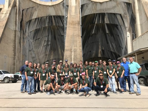 The 2018 Class of 4-H Water Ambassadors gets behind the scenes tour of the Lake Buchanan Dam during the summer 4-H2O Leadership Academy.